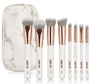 Makeup Brushes Premium Luxury 8PCs Make Up Brushes Set With Professional PU Leather Makeup Brush Set Case Bag Kit for Foundation Blending Blush Conce for Sale in Plainfield, NJ