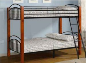 Twin over twins bunk beds frame and free delivery New in the box with the mattress and free set up for Sale in Medley, FL