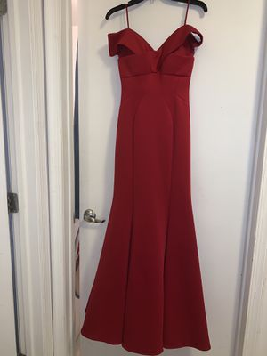Off the Shoulder Red Dress from David's Bridal for Sale in Paramus, NJ