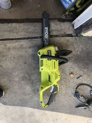 "Ryobi chainsaw 14"" 40v motosierra for Sale in Lynwood, CA"