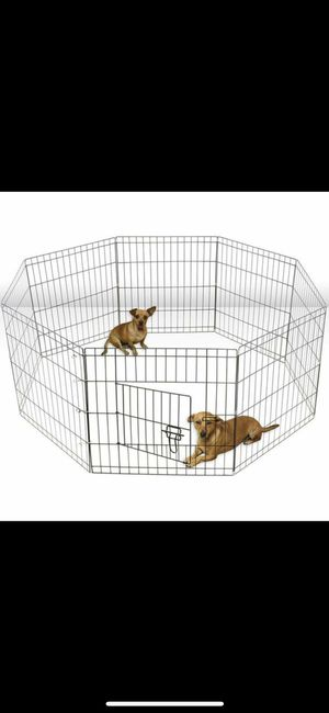 "heavy duty dog Pet Exercise Pen cage crate kennel - 8 panels 30"" height & 16 feet total length. Brand new in factory sealed box garden fence for Sale in Las Vegas, NV"