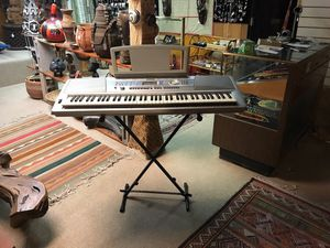 Silver Electronic Keyboard with Stand for Sale in Berkeley, CA
