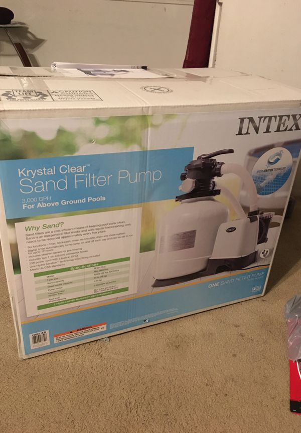 Intex Sand Filter Pump 3000gph above ground pool