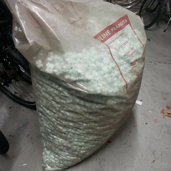 Bag Of New Uline Shipping Packing Packaging Styrofoam Peanuts