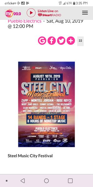 Last minute Steel city tickets for Sale in Colorado Springs, CO