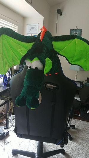 GIANT green dragon stuffed animal!! for Sale in Kent, WA