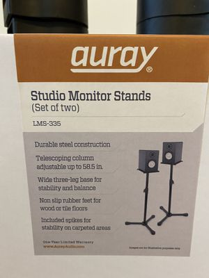 Auray LMS-335 studio monitor stands for Sale in Tempe, AZ