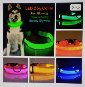 LED Light Up Dog Collar S,M,L Assorted Colors for Sale in Pattersonville, NY