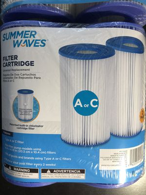 Type A/C pool filters by Summer Waves for Sale in Stafford, VA