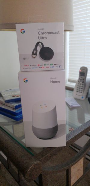 Google home and google Chromecast for Sale in Chesapeake, VA