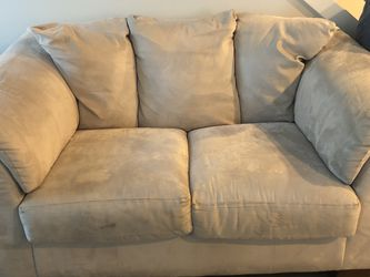 Loveseat - Tan Microfiber for Sale in Bothell,  WA