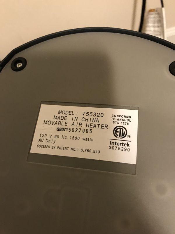 Lasko digital oscillating space heater w remote