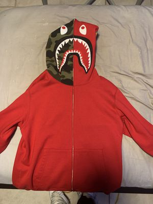 Bape Shark Full Zip Red Hoodie for Sale in Miami, FL