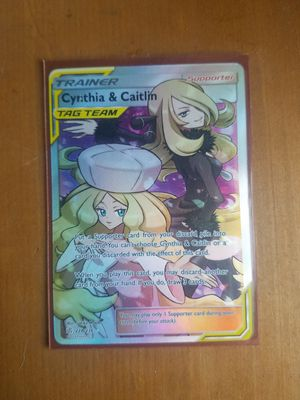 Cynthia & Caitlyn Full Art Holo (Pokemon Card) for Sale in Eagle Lake, FL