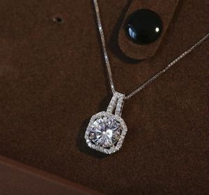 S925 Zircon Square Diamond Necklace, Women's Short Collarbone Pendant Jewelry Sets (Ring + Necklace + Earrings). Ring size 6/7 for Sale in Moreno Valley, CA