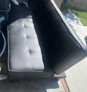 2 Black Futons for $50 for Sale in Santa Clarita, CA