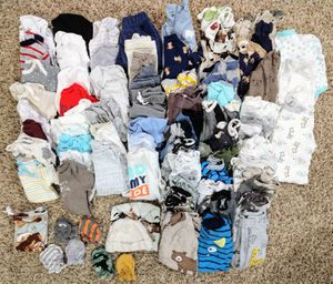 Big lot of baby boy clothes! NB-0/3 month for Sale in Battle Ground, WA