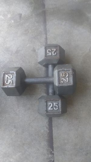 💪 1 PAIR DUMBBELLS 25 LBS for Sale in Kennesaw, GA