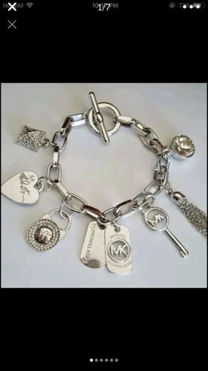"""Mk Michael kors silver tone charm bracelet 7.5"""" and 8.5"""" available for Sale in Silver Spring, MD"""