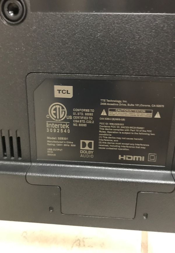 """EXCELLENT CONDITION !!! 32"""" TCL ROKU TV MODEL 32S301."""