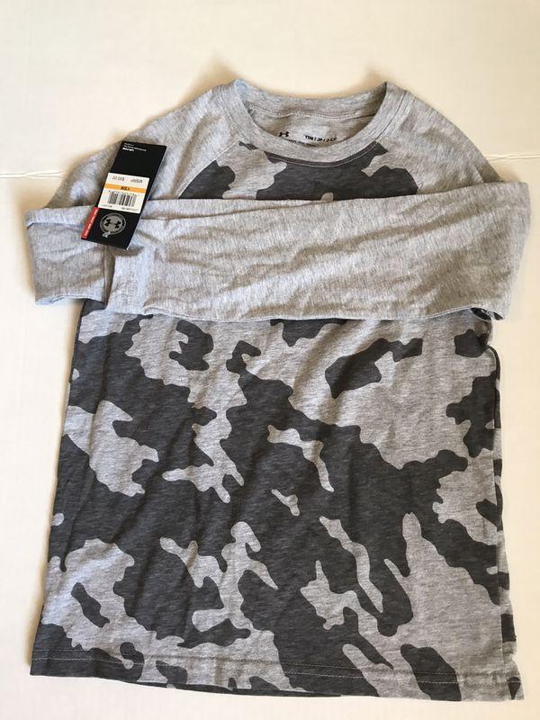 Boy Long Sleeve Ragian Camo size 8....T- Shirt