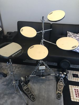 DW smart practice drum set w/ double pedal for Sale in Clermont, FL