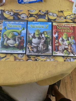 Shrek Trilogy DVD Set for Sale in Los Angeles, CA
