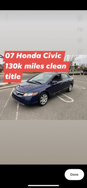 07 HONDA CIVIC 130k miles info description for Sale in Modesto, CA