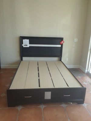 BRAND NEW MIRANDA BLACK BEDFRAME WITH BUILT IN STORAGE for Sale in Antioch, CA