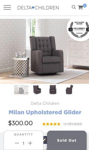 Delta Children Swivel glider grey nursery upholstered chair for Sale in Mesa, AZ