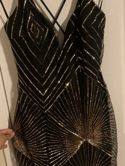 Black And Gold Sequin Dress for Sale in Vista,  CA