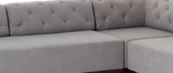 West Elm Tillary Tufted Modular Sofa Marled Heather Gray for Sale in Cedar Park,  TX