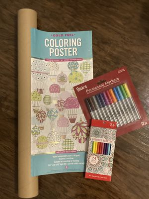 Adult coloring poster for Sale in Dunedin, FL