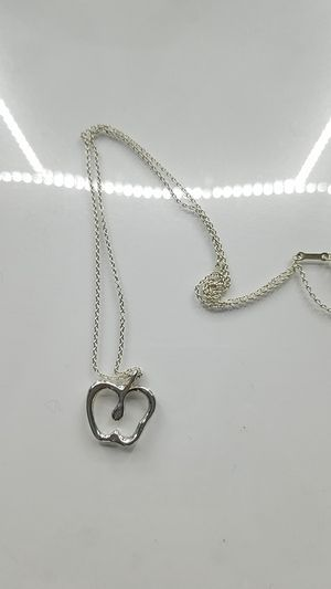 Tiffany&co Sterling silver apple necklace for Sale in Lincoln Park, MI