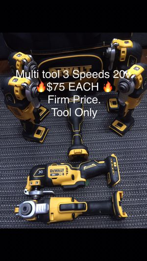 Dewalt Multi Tool XR 3 Speeds 20v. $75 EACH 🔥Firm Price. Today special Only 🔥 Tool Only 😒 means no battery no charger.. pick up in the city of Van Nu for Sale in Los Angeles, CA