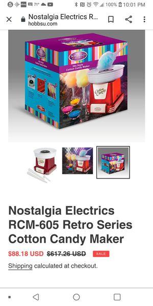 Nostalgia Cotton Candy Machine for Sale in Sugar Hill, GA