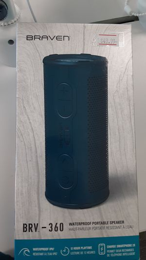 Braven waterproof Bluetooth speaker for Sale in San Angelo, TX