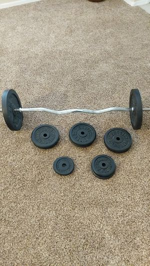 Curl Bar & 120lbs for Sale in Chandler, AZ