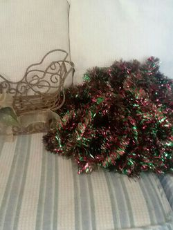 Christmas Sled & 20+Yards of Garland for Sale in Mount Dora,  FL