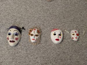 Four Hand-Painted Ceramic Masks for Sale in Overgaard, AZ