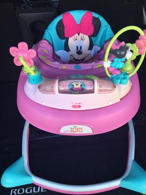 BABY GIRL MINNIE MOUSE WALKER LEARN TO WALK TOY for Sale in San Antonio, TX