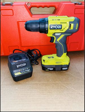 RYOBI 18-Volt ONE+ Lithium-Ion l 1/2 in. Drill/Driver Kit with 1.5 Ah Battery and Charger New for Sale in Riverbank, CA