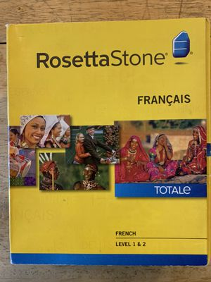 Rosetta Stone Version 4 TOTALe: French Level 1 & 2 in Retail Box w/ Headset & Activation Code for Sale in Phoenix, AZ