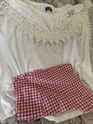 Chaps large shirt and suave plaid large capris for Sale in Burlington, NC