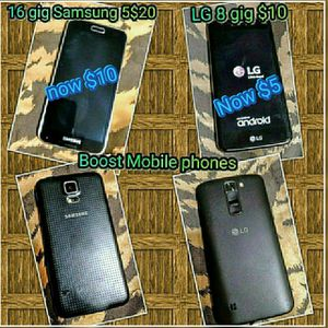 Got two phones at once Samsung Galaxy 5 16 gig and the other ones the LG 8 Giga Samsung Galaxy 5 $10 I said $10 the other one $5 your choice for Sale in US