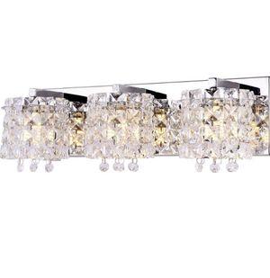 Bathroom vanity light crystal scone chandelier/home decor/Kirkland/homesgood/light fixture for Sale in Plantation, FL