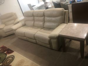 Leather reclining living room set for Sale in Valrico, FL