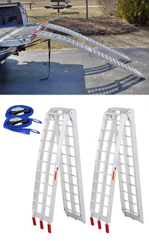 New $115 Pair 7.5ft Aluminum Motorcycle Folding Loading Ramp Street Dirt Bike 1500Lbs Rated for Sale in Pico Rivera, CA