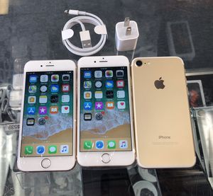 iPhone 7 128gb Unlocked Excellent Condition (each) for Sale in Cary, NC