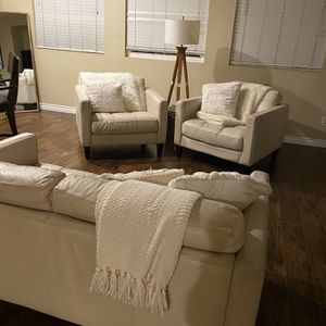 White Leather Couches for Sale in Chula Vista, CA